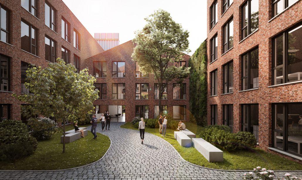 Visualisierung Innenhof Cube Factory 577, Bild der Cube Real Estate