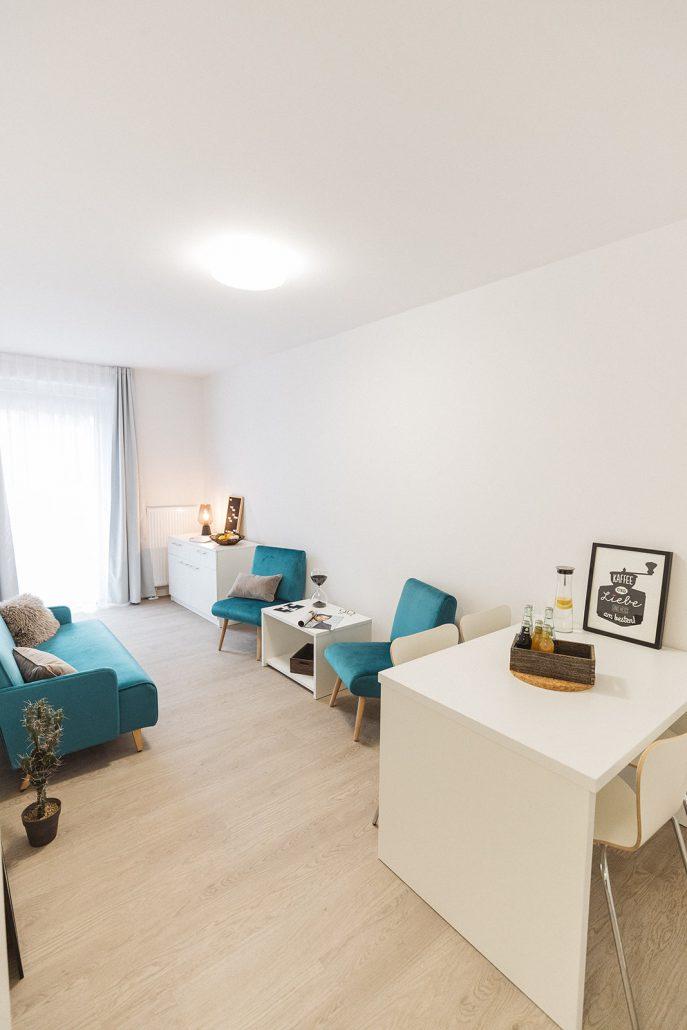 Wohnzimmer, Merziger Straße, Bild von Cube Real Estate