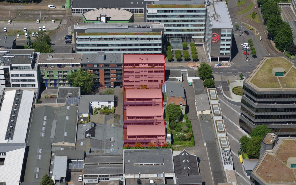 Luftbild Scheidtweilerstraße in Köln, Bild der Cube Real Estate