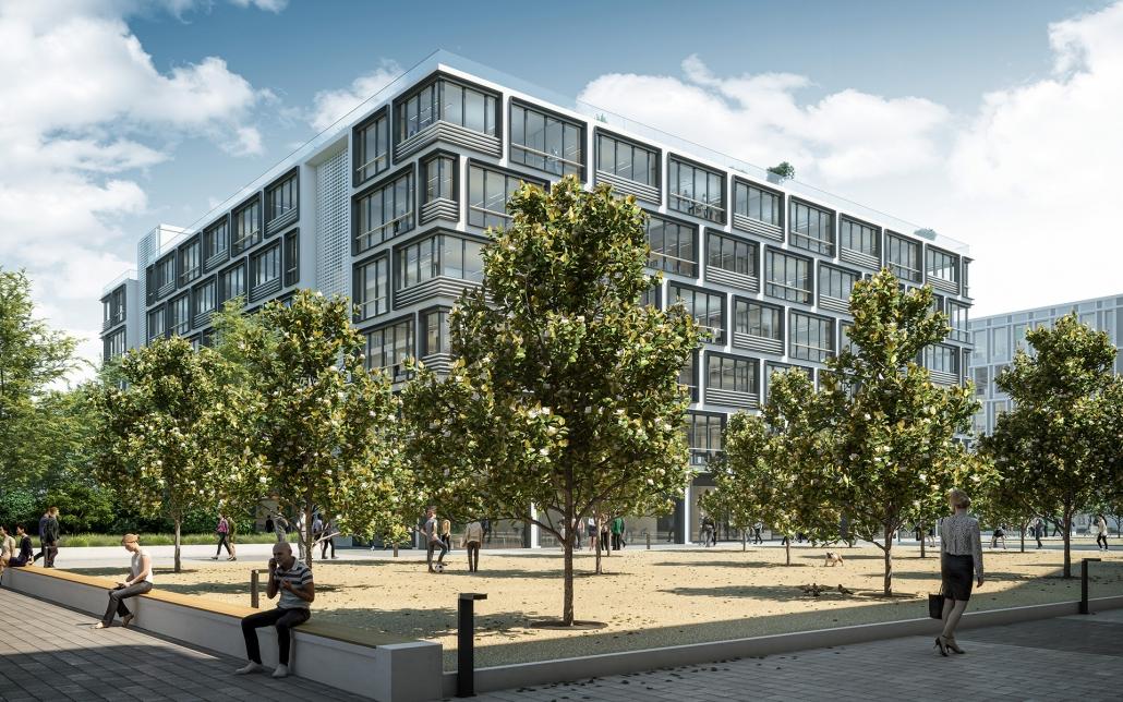 Außenansicht Schwarzbach Quartier, ein Bild der Cube Real Estate