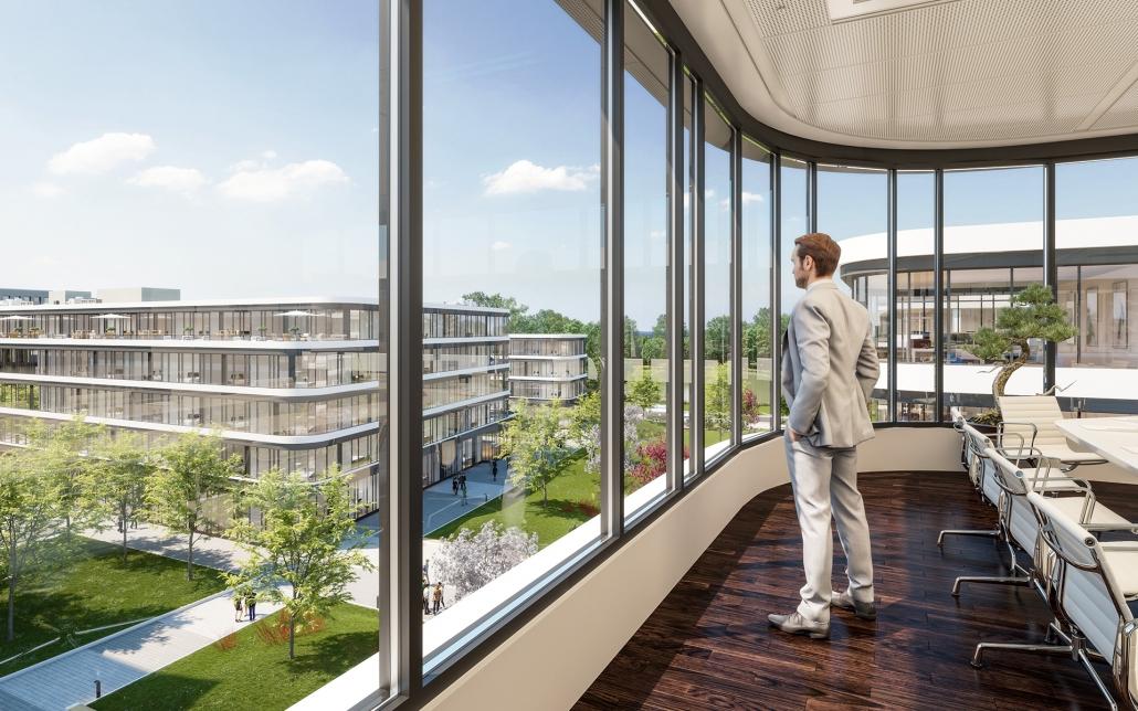 Visualisierung Schwarzbach Quartier, ein Bild der Cube Real Estate
