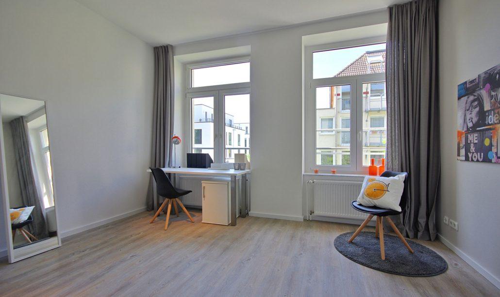Wohnzimmer Roßstraße in Köln, Bild der Cube Real Estate