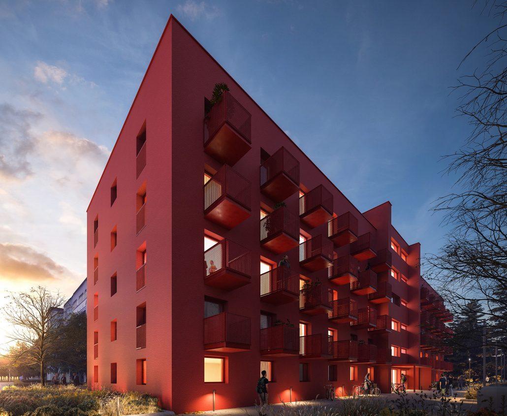 Visualisierung Außenansicht Cube Ruby 923, Bild von Cube Real Estate