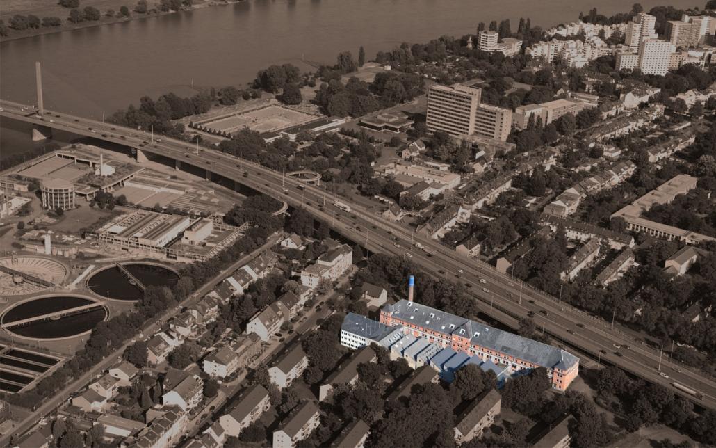 Cube Real Estate, Cube Flag Factory 2141, Bonner Fahnenfabrik, Lage in Bonn