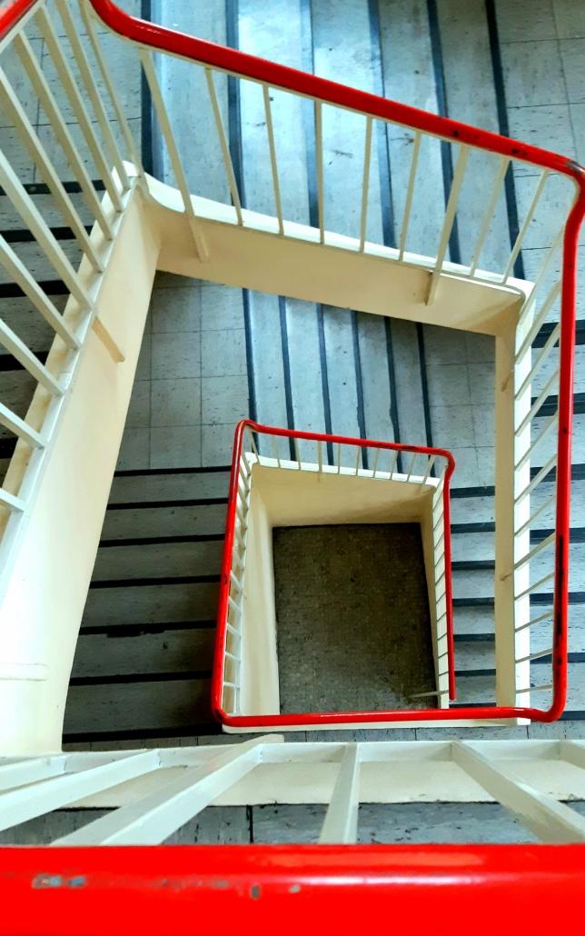 Cube Real Estate, Cube Flag Factory 2141, Bonner Fahnenfabrik, Treppenhaus