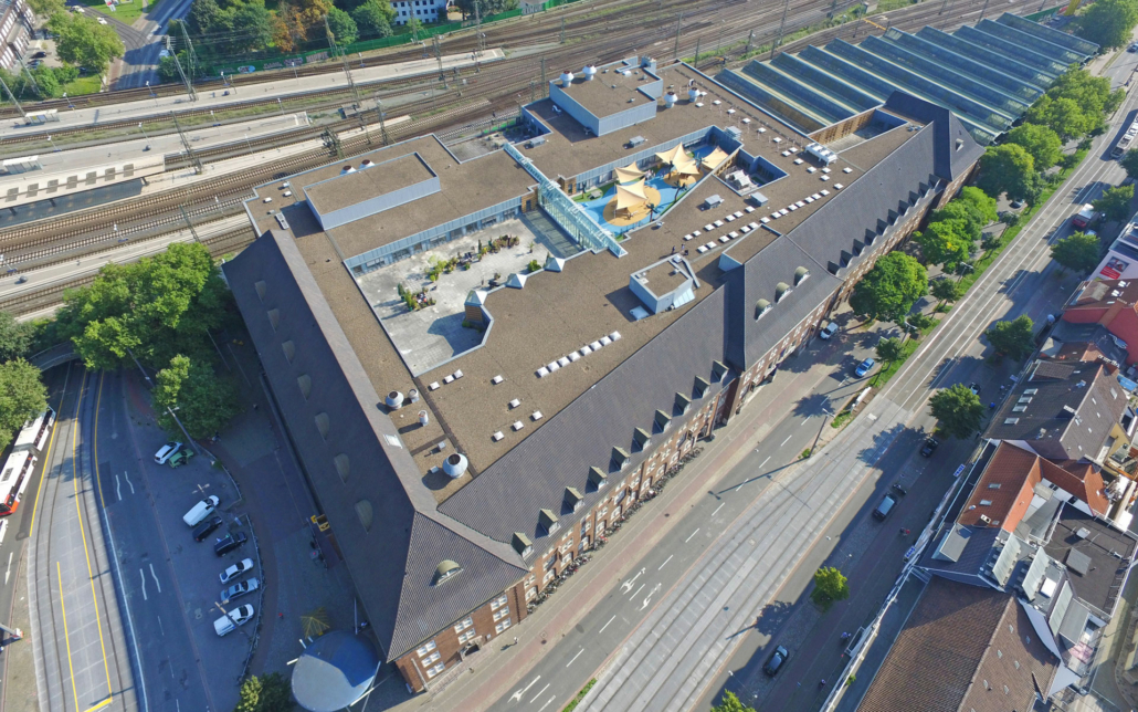 Cube Real Estate Nord, Vogelperspektive des Objektes An der Weide in Bremen