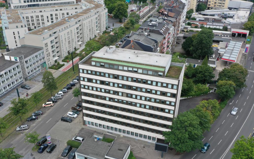 Cube Real Estate, Ansicht des Objekts in der Witzelstraße in Düsseldorf