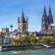 Skyline von Köln mit Dom, Groß St. Martin und Rheinpromenade